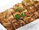 Рецепта Постни зелеви сарми от кисело зеле със стафиди и ориз